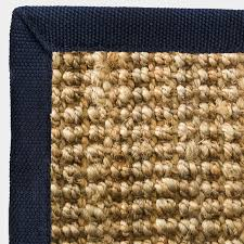jute boucle rug with black border rebtex
