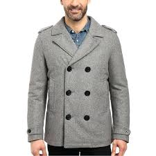 beige pea coat mens military large l grey heather wool mens beige wool pea coat mens