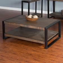 distressed industrial furniture. distressed pine coffee table with industrial metal frame furniture n