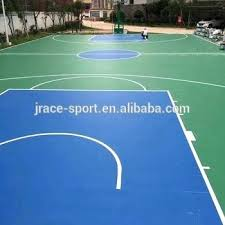 basketball court painters outdoor rubber mat paint