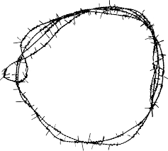 7 Circle Barbed Wire Frame PNG Transparent OnlyGFXcom