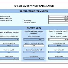 How To Payoff Credit Card Debt Calculator Template Credit Card Payment Template Excel Payoff Calculator