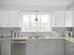 Superb Clear Glass Subway Tile Backsplash Gray Kitchen Interior Light Throughout  Measurements 4000 X 3000
