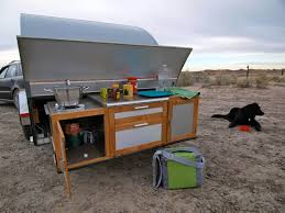 Camper Trailer Kitchen Designs Blonde Coyotes Teardrop Trailer