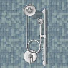 option 4 handheld showerhead slide bar homeability