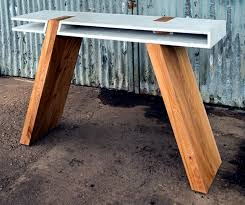 concrete and wood furniture. Table Made Of Wood And Concrete Reveals New Trends In Furniture Design