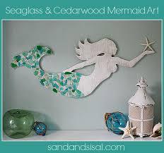 sea glass crafts mermaid diy