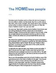 essay on the homeless homelessness essays and papers 123helpme