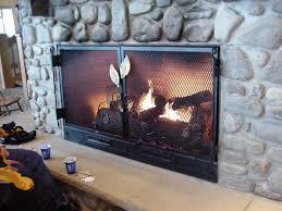 hv fireplace doors brass elm 16122412 large custom screens and firepits 21