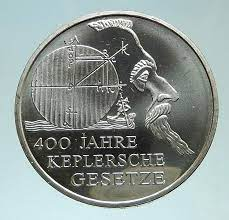 2009 unknown 2009 GERMANY Astronomy Planets KEPLER Genuine AR coin Good  Uncertified at Amazon's Collectible Coins Store