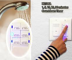 Exhaust Fan Timer And Light Switch Combo 2pk Wall Countdown Timer Light Switch Enerlites Het06a 30