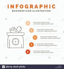 Weight Baby New Born Scales Kid Infographics Template For