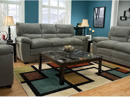 The Brick Living Room Furniture Peyton Microsuede Sofa Grey The Brick Living Room