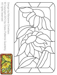 Stained Glass Pattern Extraordinary ☆ Stained Glass Patterns For FREE ☆ Glass Pattern 48 Sunflower ☆