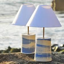 pure ocean table lamp ceramic table lamp rebecca harvey the sea