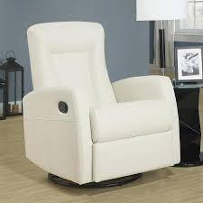 monarch specialties bonded leather swivel rocker recliner