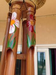 hand painted bamboo wind chimes
