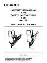hitachi nr 83a instruction manual and