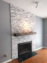 Astounding White Stacked Stone Fireplace 74 On Best Interior With White Stacked  Stone Fireplace