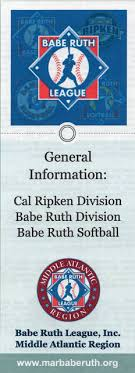 Cal Ripken Baseball Age Chart 2018 Babe Ruth League Middle Atlantic Region