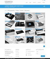 Business Portfolio Template Freebie 4 Column Portfolio Template For Business Theme