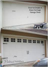 Carriage garage doors diy Country Style Faux Carriage Garage Door Garage Door Before And After Pinterest Addict Creating Faux Carriage Garage Door Pinterest Addict