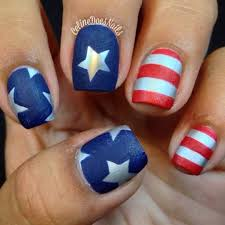 90+ Best Fourth of July Nail Art You Have to See | Beauty nails ...