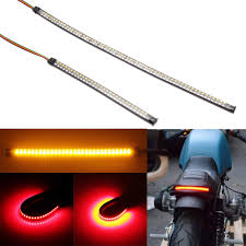 <b>1Pair 12V Universal Motorcycle</b> LED Turn Signal Light Amber ...