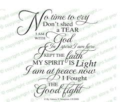 Funeral Words For Cards Gorgeous No Time To Cry Funeral Poem Created As Elegant Script By Permission