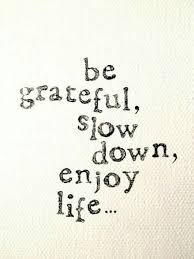 Enjoy Life Quotes Mesmerizing Be Grateful Slow Down Enjoy Life Unknown Via Elephant