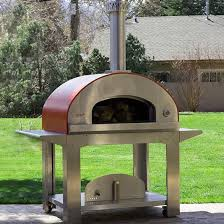 bella ultra 40 inch outdoor wood fired pizza oven on cart red bbqguys