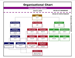 Business Organizational Chart Cool Sample Organizational Chart