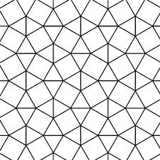 Mozaïek Met Driehoek En Vierkant Motief Kleurplaat Gratis