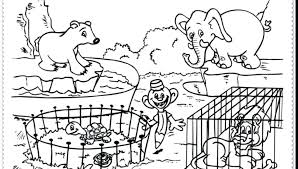 Zoo Coloring Page Zebra In The Zoo Coloring Page Zoo Animal Coloring