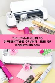 Oracal 751 Color Chart Pdf Different Types Of Vinyl And How To Use Them Ninja Jav Crafts