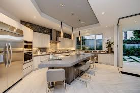 modern kitchen lighting pendants. Modern Kitchen With High Ceiling, Island, LBL Lighting Cypree Large Low Voltage Pendant Pendants I