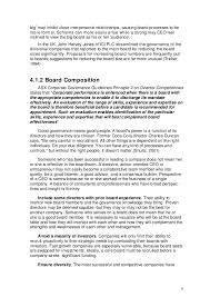 corporate governance and board structure one that is `too 8