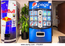 Energy Drink Vending Machine Delectable A Red Bull Machine Offering Cold Energy Drinks In Oklahoma USA