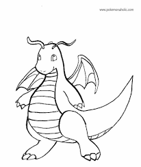 Small Picture Pokemon Coloring Pages Dragonite olegandreevme