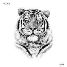 Hxman тигр для женщин временная татуировка стикеры водонепроницаемый модная