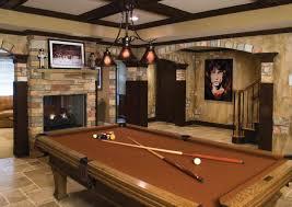 basement ideas for men. Unique Men Image Of Brown Pool Table Man Cave Ideas For Basement With Men