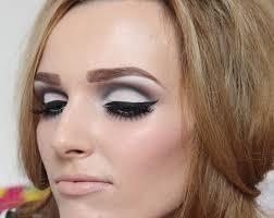 liquid eyeliner the eye crease shadow white lipstick 1960 s makeup tutorial