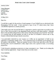 It Cover Letters Examples Cover Letter Examples For Retail Assistant