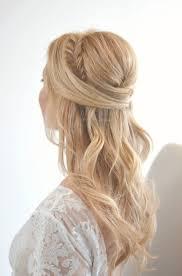 half up half down hairstyles wedding. fishtail half up down wedding hairstyle ideas for brides hairstyles g