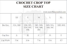 Bathing Suit Top Size Chart Crochet Crop Top Size Chart Snowflakecrochet Crochet
