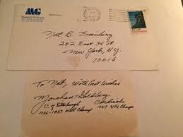 Envelope For Resume Details About Marshall Goldberg Signed Index With Resume And Original Envelope Rare Item