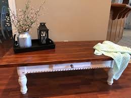 diy farmhouse style coffee table from an old table