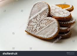 Bread Embroidery Design Gingerbread Hearts Beautifully Decorated Eatable Embroidery