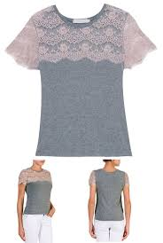 DIY -- Get tank tops on clearance right now and add lace to make t-shirts