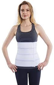 NYOrtho Abdominal Binder Lower Back Support Belt \u2013 Compression Wrap for Men and Women (30\u2033 45\u2033) 4 PANEL 12\u2033